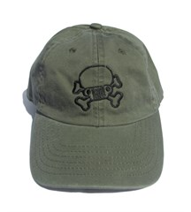 Jeep Skull & Crossbones Hat/Cap-Youth, Olive