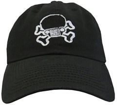 Jeep Skull & Crossbones Cap - Black