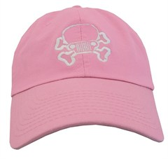 Jeep Skull & Crossbones Cap - Pink