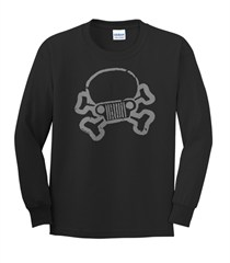 Jeep Skull & Crossbones Youth Long Sleeve Shirt