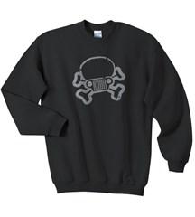 Jeep Skull & Crossbones Crew Neck Sweatshirt, Black