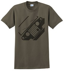 Jeepster Commando Front Silhouette Men's Tee