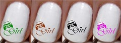 Jeep Girl Nail Decals