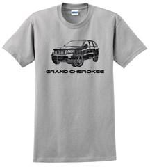 Grand Cherokee Ghost Image Men's T-Shirt, Ice Gray