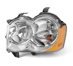 Headlight w/o Fog Lights Driver Side Grand Cherokee WK 2005-2010