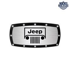 Jeep Grille Logo Billet Hitch Cover