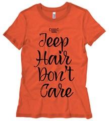 Jeep Hair Don't Care Black Design Junior's T-Shirt