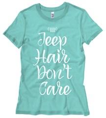 Jeep Hair Don't Care White Design Junior's T-Shirt
