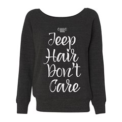 Jeep Hair Don't Care Wide Crewneck Sweatshirt
