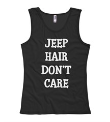 Jeep Hair Don't Care Women's Tank Top in Black