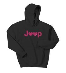 Jeep Hearts Adult Hooded Sweatshirt