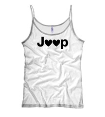 Jeep Hearts Spaghetti Strap Tank, by All Things Jeep