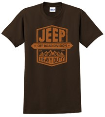 Jeep Heavy Duty Men's T-Shirt in Brown