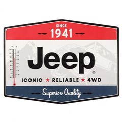 Jeep-Iconic-Reliable-4WD Tin Thermometer Sign