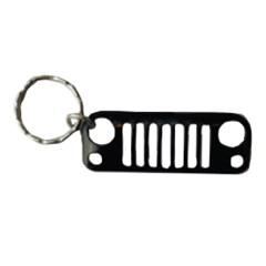 Jeep Key Chain:  Jeep JK Grille, Black
