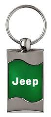 Jeep Keychain & Keyring - Green Wave