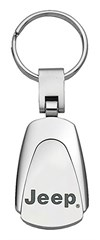 Jeep Keychain & Keyring - Chrome Teardrop