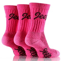 Jeep Women's Luxury Boot Socks (3-pack), Cerise Pink