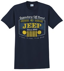 Jeep Legend Off Road Men's T-Shirt in Heather Navy