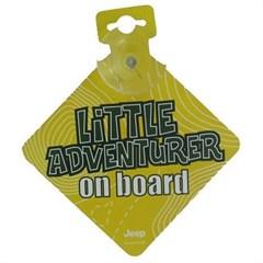 "Jeep ""Little Adventurer On Board"" Car Sign"