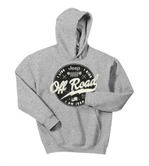 Jeep Off Road Label Men's Hoodie in Grey