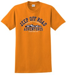 CLOSEOUT (2XL only) Jeep Off-Road Adventures Short Sleeve Tee (Orange)