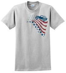 Old Glory Stars & Stripes - Men's T-Shirt by All Things Jeep