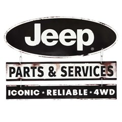 Jeep Parts and Service Linked Metal Sign