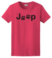 Jeep Dog Paw Women's T-Shirt