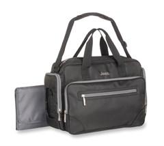 Jeep Perfect Pockets Duffle Diaper Bag, Black/Gray