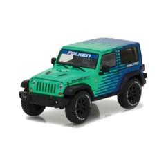 1:43 Green 2014 Jeep Wrangler Rubicon Diecast Model with Falken Tires