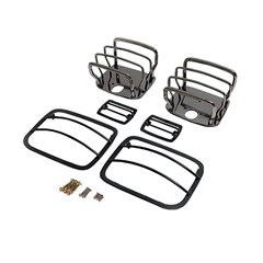 Euro Guard Kit for Jeep YJ (1987-1995), Black Chrome