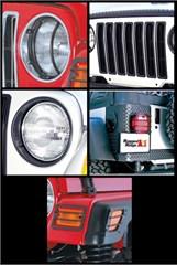 Euro Guard Light Kit Jeep TJ and LJ (1997-2006), Black