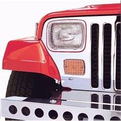 Stone Guard Set, Jeep YJ (1987-1995), Stainless Steel