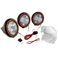 "Fog Light Kit, Round HID, Composite Housing, 7"" Inches, Black"