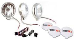 """Halogen Fog Light Kit,  6"""" Inch, Stainless Steel"""