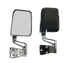 Door Mirror Kit Dual Focus for Jeep YJ & TJ (1987-2002), Chrome