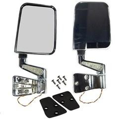 Door Mirrors w/LED Turn Signals, Jeep YJ/TJ (1987-2002) - Chrome
