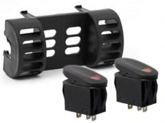 AC Vent Switch Pod, Jeep TJ (1997-2006), LJ (2004-2006), Black