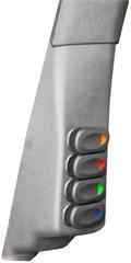A-Pillar Switch Pod w/ 4 Switches Wrangler JK 2011-2018 Driver Dk Gray