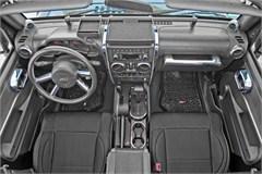 Interior Trim Kit, Jeep JK 2D A/T, M/W,2007-2010, Brushed Silver