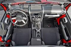 Interior Trim Kit, Jeep JK 4D A/T, P/W,2007-2010, Brushed Silver