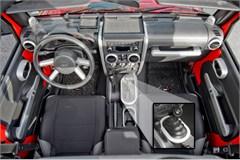 Interior Trim Kit, Jeep JK 4D M/T, P/W,2007-2010, Brushed Silver