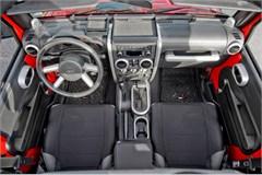 Interior Trim Accent Kit-Jeep JK 4D w/ M/T, M/W, 07-10 Brush Slv