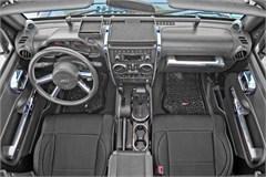 Interior Trim Accent Kit, Jeep JK 4 Door M/T & P/W, 2007-2010, Chrome