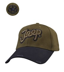 Jeep Script Hat in Olive