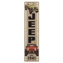 Jeep Since 1941 Vertical Embossed Metal Sign