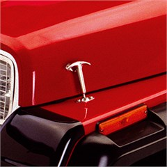 Stainless Steel Hood Catch Kit for Jeep CJ and YJ (1942-1995)