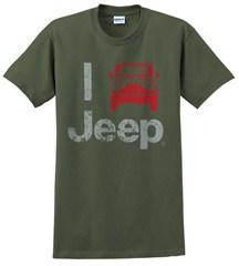 """""""I Jeep"""" Unisex Tee - Olive"""
