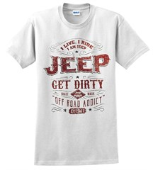 Jeep Trademark Label Men's T-Shirt in White